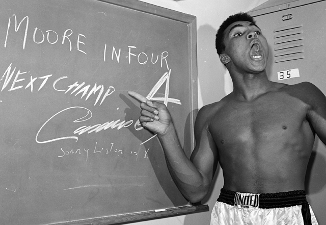 Cassius Clay, prior to becoming Muhammad Ali, predicts a win over Archie Moore (AP file photo)