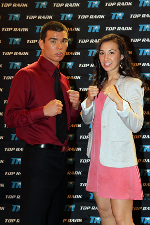 Abie Han and older sister Jennifer fight on the same card Saturday (AP)