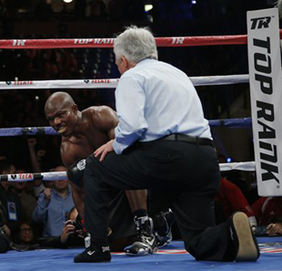 Timothy Bradley rallied from a knockdown to defeat Ruslan Provodnikov on March 16 (AP)