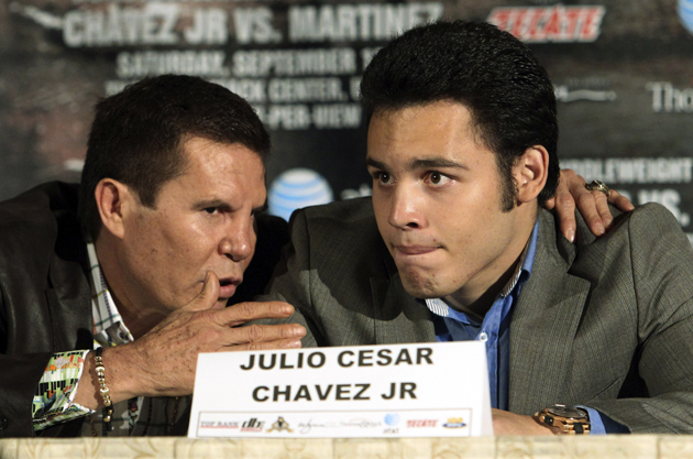 Julio Cesar Chavez Jr. has fought in two of the three top-rated bouts on HBO in 2012. (AP)