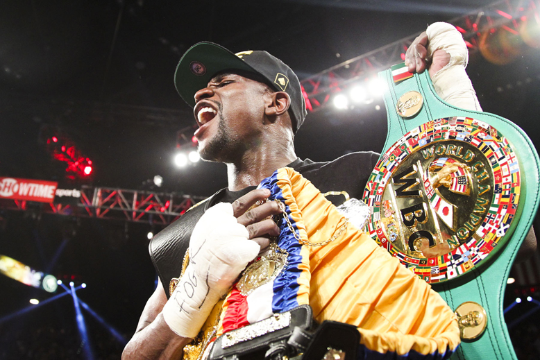 Floyd Mayweather has won both of the best-selling pay-per-view bouts of all-time (Tom Casino/Showtime)