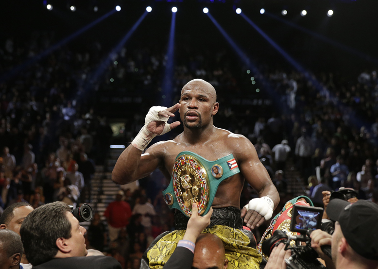 Floyd Mayweather fights Canelo Alvarez on Saturday at the MGM Grand in Las Vegas (AP)