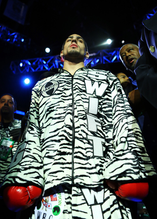 Danny Garcia defends his super lightweight title on April 27 (Getty)