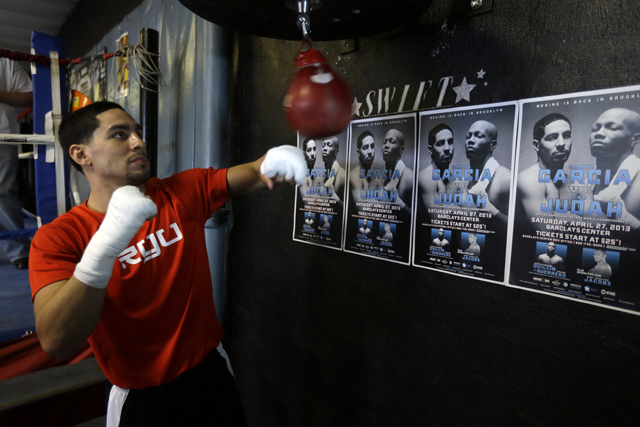 Danny Garcia may defend his super lightweight titles against Lucas Matthysse (AP)