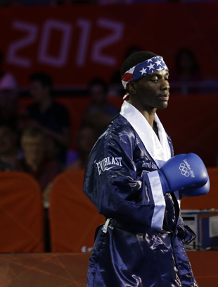 Terrell Gausha won his first Olympic bout by TKO. (AP)