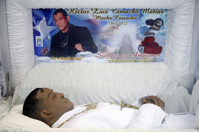Boxer Hector Camacho Sr. died Nov. 23 after being shot in Bayamon, Puerto Rico (AP)