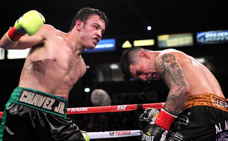 Julio Cesar Chavez Jr.'s fight with Bryan Vera is the No. 1-rated cable fight of 2013 (Chris Farina/Top Rank)