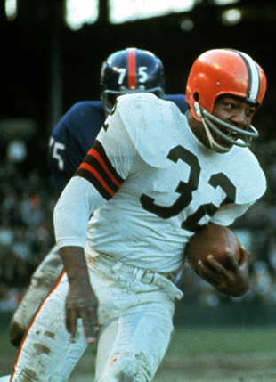Jimmy Brown retired as the NFL's all-time leading rusher (AP file photo)