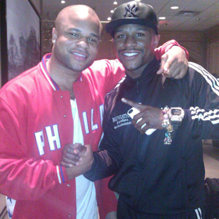 Omar Henry (L) and Floyd Mayweather Jr. in September (Henry Facebook Page)