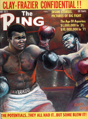 The cover of Ring Magazine's preview issue referred to Ali as Clay (Getty)