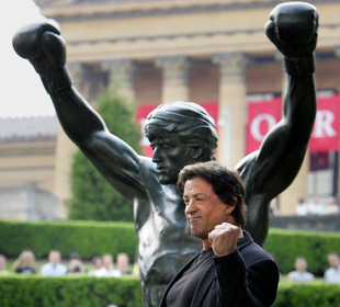 Actor Sylvester Stallone commissioned the Rocky statue in 1982 (AP)