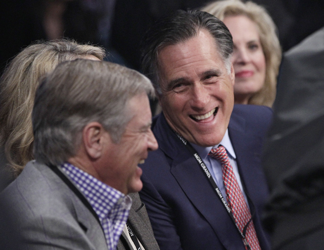 Former Republican presidential nominee Mitt Romney at the Pacquiao-Marquez fight (AP)