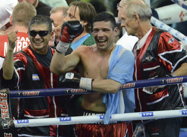 Sergio Martinez celebrates his win over Julio Cesar Chavez Jr. (Getty Images)