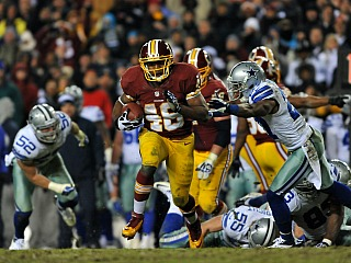 Alfred Morris, shredding the Dallas D (Getty)