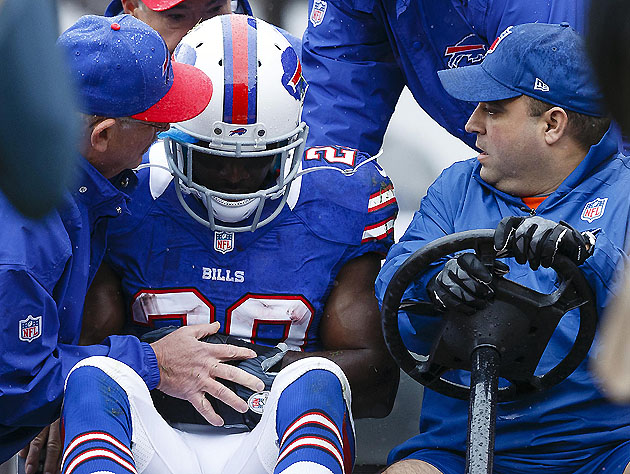 CJ Spiller, on his way to the locker room (US Presswire)