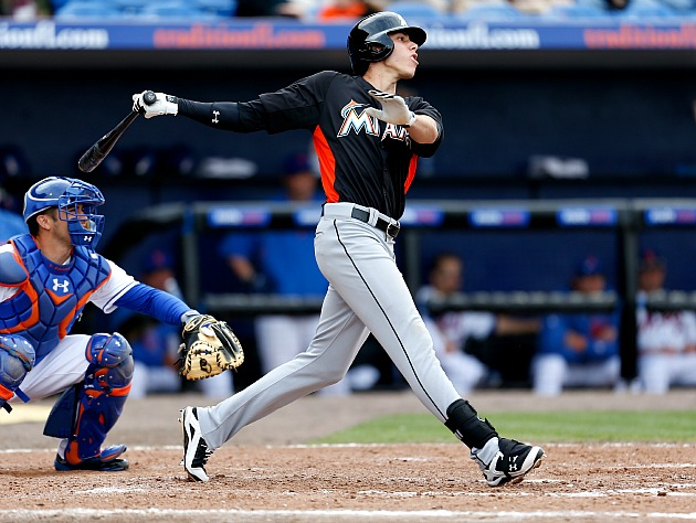 Christian Yelich, raking (Getty Images)