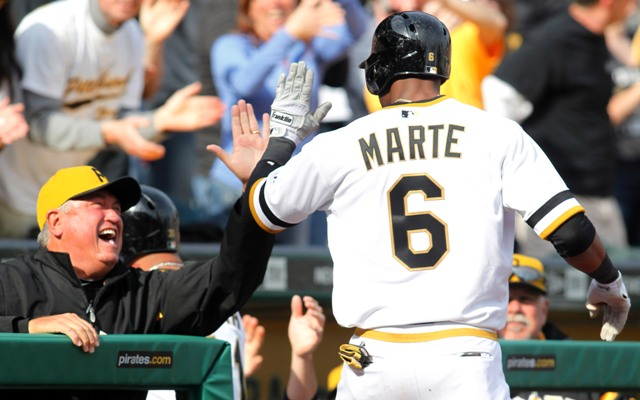 Clint Hurdle is thrilled with Marte's recent upswing. (USAT)
