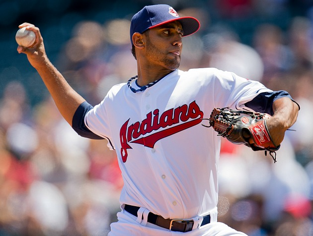 Danny Salazar, dealing (Getty Images)
