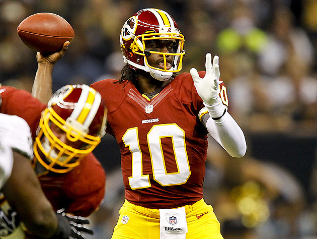 Impressive early returns for RGIII & Pierre (US Presswire)