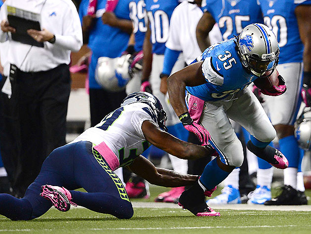 Joique Bell, still serving as the Lions' closer (US Presswire)