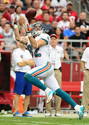 Just one of Brian Hartline's 12 catches (USP)