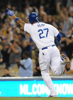 Kemp's auction price will exceed his jersey number this year. (US Presswire)