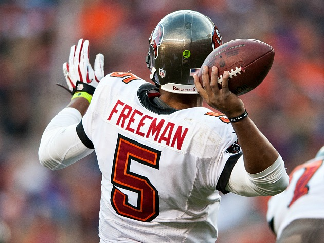 No pressure, Josh Freeman (Getty Images)