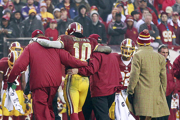RG3, sprained but willing (USA Today Sports Images)