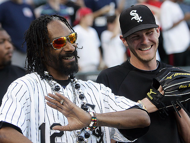 Snoop & Chris Sale discuss the Sox bullpen (US Presswire)