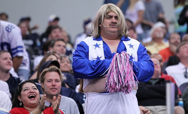 Some Cowboys cheerleaders really let themselves go after fulfilling their employment. (USP)