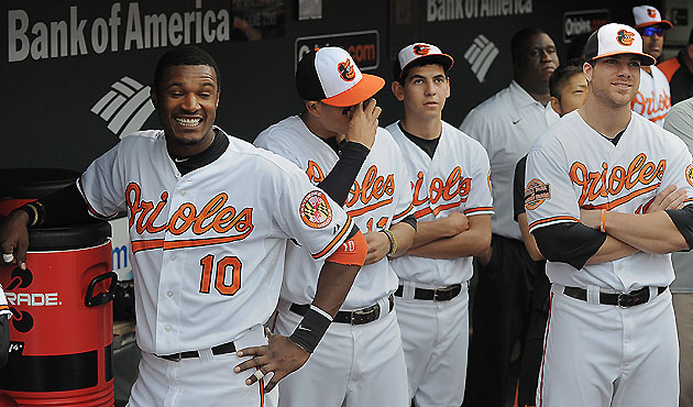 The Os dugout was typically a happy place in 2012 (Getty Images)