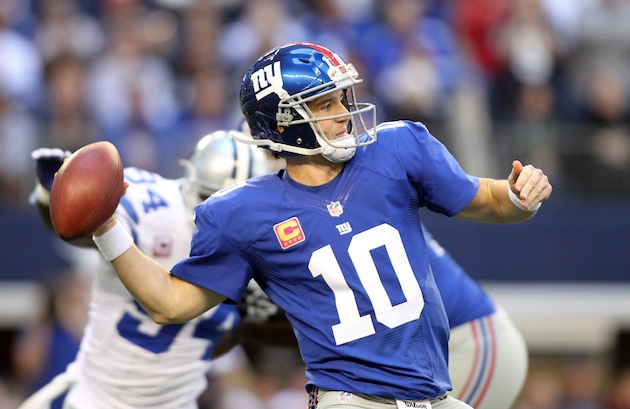 Well-rested Eli should uncork often in high-volume Week 12 appearance. (USP)