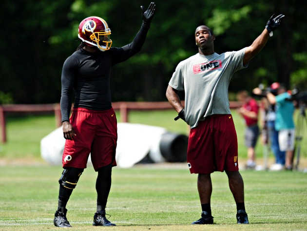 Robert Griffin and Pierre Garcon make their point (USAT)