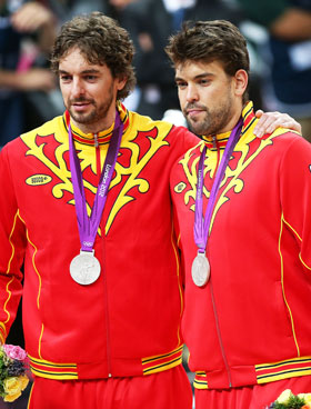 No matter which Gasol you choose, you're golden ... or, maybe, silverish (Getty)
