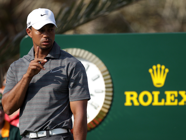 Tiger Woods in Abu Dhabi / Getty Images