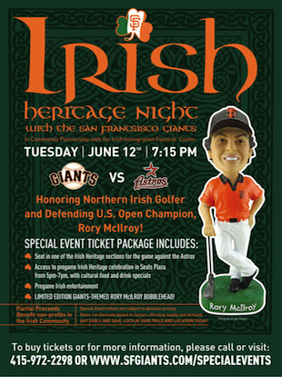 Rory McIlroy's getting a bobblehead. — San Francisco Giants