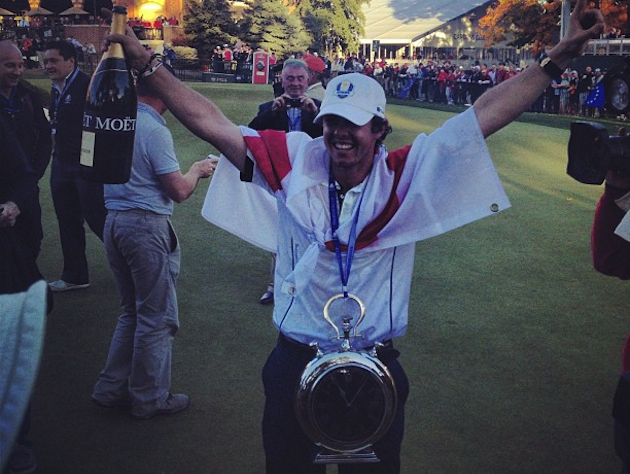 Rory McIlroy doing his best Flavor Flav impersonation. — Via @stephaniemwei