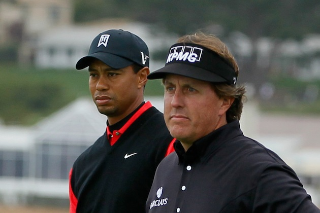 Tiger Woods, Phil Mickelson — Getty Images
