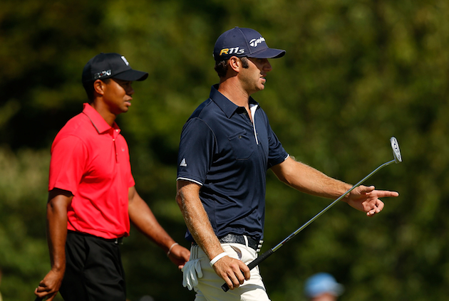 Tiger Woods and Dustin Johnson are chasing Rory McIlroy. — Getty Images