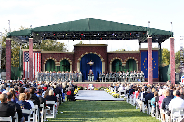 Thursday's opening ceremonies at Medinah. — Getty Images