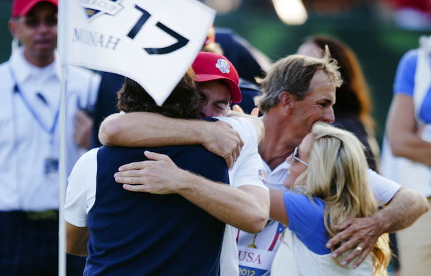 Phil Mickelson and Keegan Bradley will be paired together on Saturday. — Getty Images