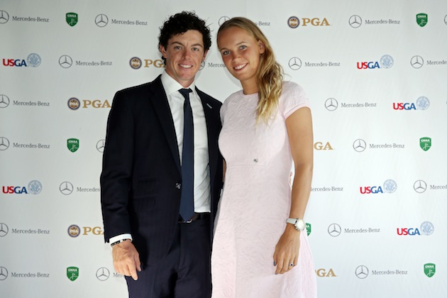 Rory McIlroy, Caroline Wozniacki — Getty Images