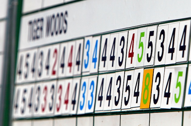 "The ""8"" on No. 15 was the story of the day at Augusta National — Getty Images"