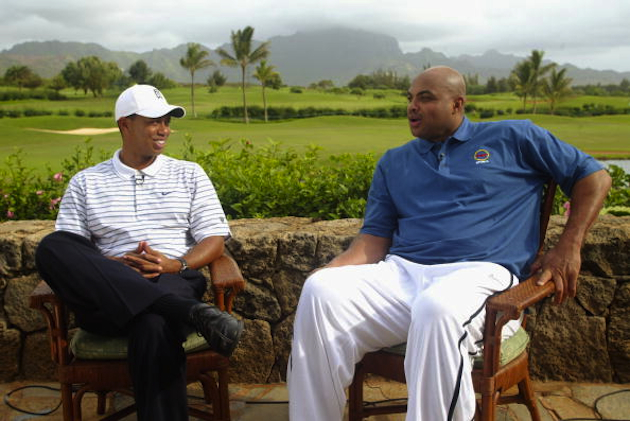 Tiger Woods and Charles Barkley / Getty Images