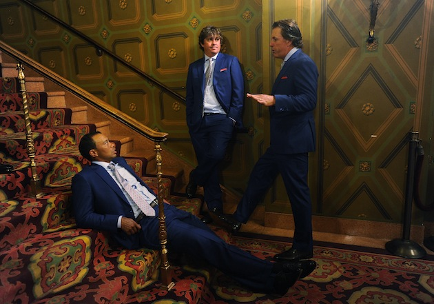 Tiger Woods, Jason Dufner, Phil Mickelson — Getty Images