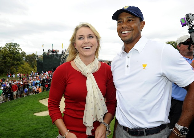 Lindsey Vonn, Tiger Woods — Getty Images