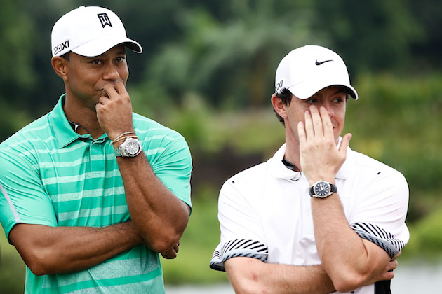 Tiger Woods, Rory McIlroy — Getty Images