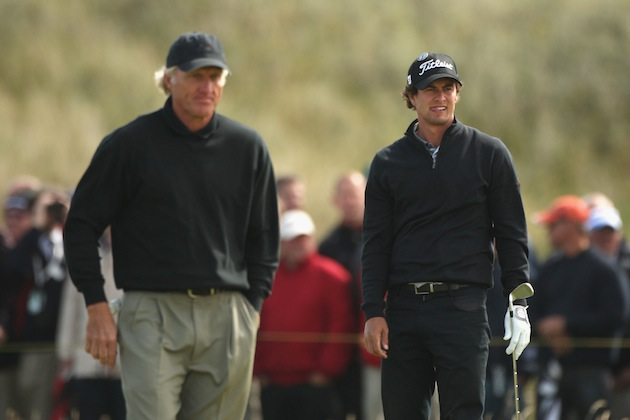 Greg Norman, Adam Scott — Getty Images