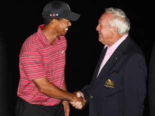 Tiger Woods and Arnold Palmer / Getty Images