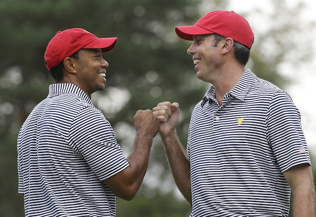 Tiger Woods, Matt Kuchar — AP